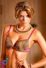 Бюстгалтер «Leopard-Pink Push-Up Bra»