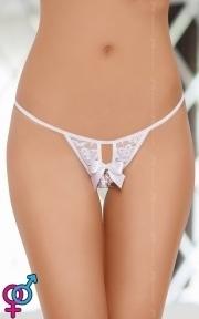 Женские стринги G-string 2426, белые, SL (5591242620)