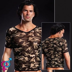 Футболка Pro-Mesh V-Neck Tee Camouflage (BLM020GRCALXL)