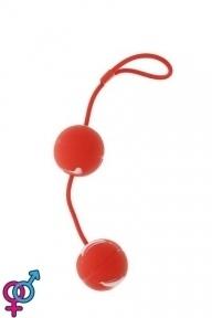 Вагинальные шарики Marbelized DUO BALLS,RED (DT50505)