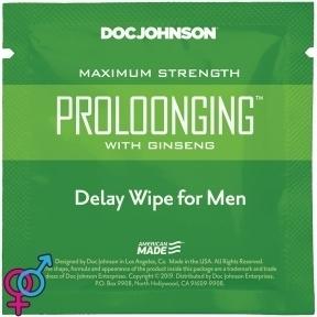 Пролонгирующая салфетка Doc Johnson Delay Wipe For Men с экстрактом женьшеня (SO3486)