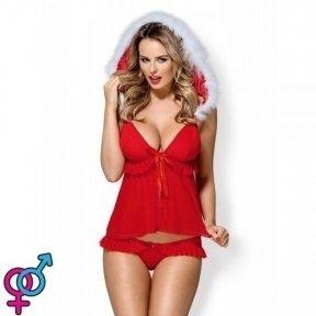 Комплект Obsessive 851-CST-3 costume Red® S/M 4 предмета (410760)