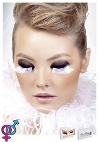 Реснички White-Gray Feather Eyelashes (B560)