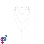 Украшение для спины и декольте Bijoux Indiscrets Magnifique Back and Cleavage Chain - Silver