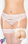 Пояс для чулок - Garterbelt 3316, Plus Size, white
