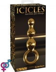 Анальная пробка  Icicles Gold Edition G10, 14,8х3,8 см