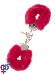 Наручники,Metal Handcuff with Plush, RED (T160028)