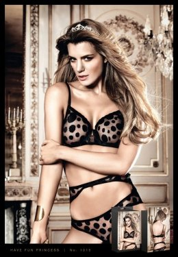Бюстгалтер Black Dotted Underwire Bra (B1015-BLACK-32A)
