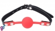 Кляп BDSM-NEW Lover ball gag, silicone,black-red (280392)