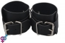 Наручники BDSM-NEW PVC Handcuffs With Chain, black (281332)